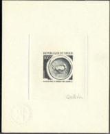 NIGER (1975g) Crab. Diadrachma. Die Proof In Bluish-black Signed By The Engraver QUILLIVIC. Scott No 334, Yvert No 339. - Niger (1960-...)