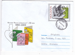 "2003 , Moldova  Moldavie , Moldawien , The Magazine ""Mathematical Sheet"" , Used Pre-paid Envelope - Moldova"