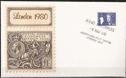 Greenland 1980 Stamp Exhibition London 1980 - Cancelled 8.5.80 Greenland Post Office London 80 - Brieven En Documenten