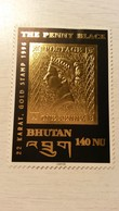 BHOUTAN - TIMBRE OR - The Penny Black - Bhutan