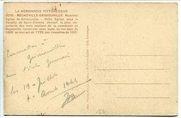 Regnéville Grimouville Eglise ( Annotée Évacuation à Grimouville Ecole Germain 19 Juillet 7 Août 1944 ( Groupe Enfants ) - Autres Communes