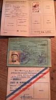 2 Cartes FNPG Et De L'Amicale Des Prisonniers De Guerre Des Stalags XII Et Brevet Militaire Au Nom De COTTET Maurice - Unclassified