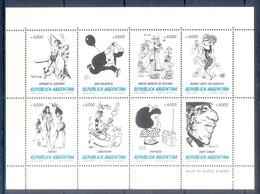 D8- Argentina 1991 The Humor And The Cartoon. Breccia Calé Divito Ferro Oski Palacio Quino Salinas. - Unused Stamps