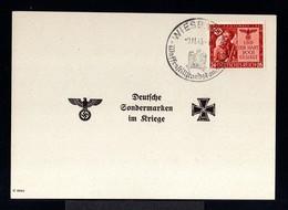 9438-GERMAN EMPIRE-MILITARY PROPAGANDA Sheet CARD GERMAN SPECIALTY MARKS IN WAR.1943.WWII.Wiesbade.DEUTSCHES REICH.Carte - Germania