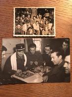 """2 Photographies, Militaires Français En """"Exil"""" à Grindelwald, Suisse, Année 1940, écrite Par """"Marlot Maxime ?"""" - Guerre, Militaire"""