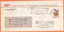 SAN MARINO - 1974 - 50 Frutta - Grey S.A. - Viaggiata Da San Marino Per Pinarella Di Cervia, Italia - Storia Postale