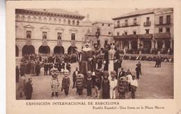 EXPOSICION INTERNACIONAL DE BARCELONA. PUEBLO ESPAÑOL, UNA FIESTA.... PATRIMONIO NACIONAL TURISMO. CIRCA 1926s - BLEUP - Barcelona
