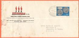SAN MARINO - 1974 - 50 Monete - Titangas S.A. - Viaggiata Da San Marino Per Pinarella Di Cervia, Italia - Storia Postale