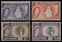 Montserrat 1958 - Mi-Nr. 147-150 ** - MNH - Freimarken / Definitives - Montserrat