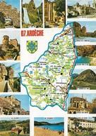 07 Carte Du Département De L'Ardèche (2 Scans) - France