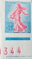 R1949/873 - 1960 - SEMEUSE De PIEL - N°1233 NON DENTELE NEUF** CdF Avec Numéros ROUGES - Imperforates