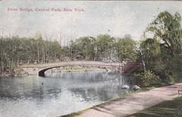 SWAN BRIDGE, CENTRAL PARK, NEW YORK. SUCCESS POSTAL CARD CO. CPA CIRCA 1910s VINTAGE - BLEUP - Central Park