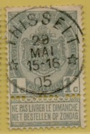 MW-3360   *  THISSELT  *    OCB 53      Sterstempel   COBA   +20 - 1893-1907 Wappen