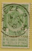 MW-3405    *  WIEZE    *    OCB 56   Sterstempel    COBA  30 - 1893-1907 Wapenschild