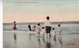 PAPA ON THE BEACH, NANTASKET BEACH, MASS. VALENTINE  SONS PUBLISHING CO. CPA CIRCA 1910s VINTAGE - BLEUP - Etats-Unis