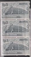 INDONESIA Scott # 516 MNH Strip Of 3 - Borobudur Temple - Indonesia