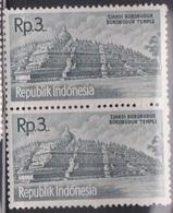 INDONESIA Scott # 516 MNH Pair - Borobudur Temple - Indonesia