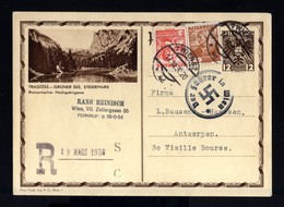 8081-GERMAN EMPIRE-AUSTRIA Occupation.MILITARY PROPAGANDA POSTCARD Wien.1938.WWII.DEUTSCHES REICH.Postkarte - Germany