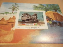 Miniature Sheet 1984 Togolaise Togo Locomotive Ligne D Aneha 1905 1884 Centenary - Togo (1960-...)