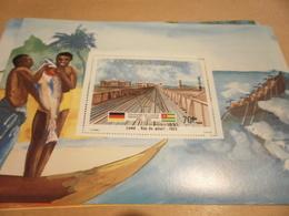 Miniature Sheet 1984 Togolaise Togo Lome Vue Du Wharf 1903 1884 Centenary - Togo (1960-...)