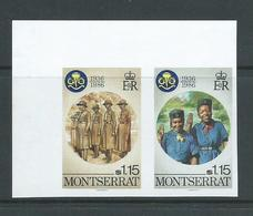 Montserrat 1986 Girl Guide Anniversary $1.15 Imperforate Plate Proof Pair MNH - Montserrat