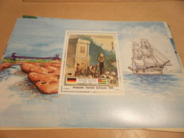 Miniature Sheet 1984 Togolaise Togo German Friendship Atakpame Fountain 1906 - Togo (1960-...)