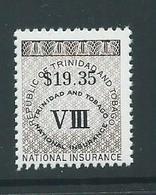 Trinidad & Tobago 1990 $19.35 National Insurance Stamp MNH - Trinidad & Tobago (1962-...)