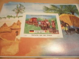 Miniature Sheet 1984 Togolaise Togo German Friendship Construction Line Atakpame - Togo (1960-...)