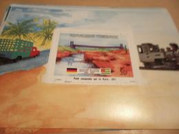 Miniature Sheet 1984 Togolaise Togo German Friendship Suspension Bridge On The Kara 1911 - Togo (1960-...)