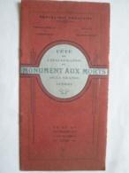INDOCHINE -PROGRAMME PROTECTORAT Du CAMBODGE VILLE De PHNOM PENH FETE  INAUGURATION MONUMENT AUX MORTS  GUERRE 1914-18 - Programs