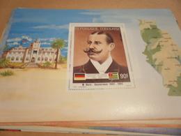 Miniature Sheet 1984 Togolaise Togo German Friendship Governor Horn 1905 - Togo (1960-...)