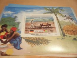 Miniature Sheet 1984 Togolaise Togo German Friendship Harnessed Culture 1908 - Togo (1960-...)