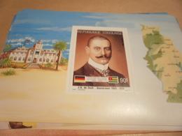 Miniature Sheet 1984 Togolaise Togo German Friendship Governor Zech 1905-1910 - Togo (1960-...)