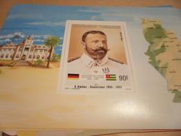 Miniature Sheet 1984 Togolaise Togo German Friendship Governor Koehler 1895-1902 - Togo (1960-...)