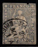 P644.-. SWITZERLAND - 1854 - MI # : 18 II - USED - CV: EUR 850.00 - NICE SPACEFILLER - 1854-1862 Helvetia (Ungezähnt)