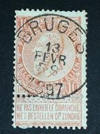 COB N ° 57 Oblitération Bruges 1897 - 1893-1900 Fine Barbe