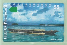 Tokelau Islands - Tamura Magnetic - 1997 First Issue - $5 Canoe - TOK1 - Mint - Neuseeland