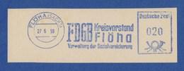 DDR AFS - FLÖHA, FDGB Kreisvorstand Flöha - Verwaltung Der Sozialversicherung 27.6.59 - Unclassified