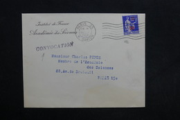 FRANCE - Type Paix Surchargé Sur Enveloppe De Convocation De Paris Pour Paris En 1941 - L 30508 - 1921-1960: Periodo Moderno
