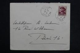 FRANCE - Mistral Sur Enveloppe De Beaune Pour Paris En 1941 - L 30514 - Poststempel (Briefe)