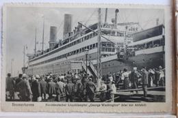 """AK Bremerhaven Norddeutscher Lloyddampfer """"George Washington"""" Ungebraucht #PD622 - Alemania"""