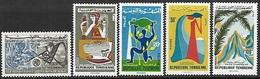 Tunisia 1965-6  Sc#447, 455-8   5 Diff Better MNH   2016 Scott Value $3 - Tunisia