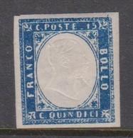 Italy S 11 1862 King Victor Emmanuel II, 15c Blue,mint Hinged - Mint/hinged