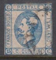 Italy S 12 1863 King Victor Emmanuel II,15c Blue,used - Used