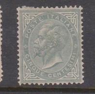 Italy S 16 1863 King Victor Emmanuel II,5c Slate Green,mint Hinged - 1861-78 Vittorio Emanuele II