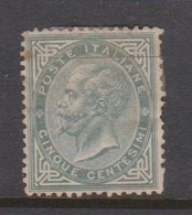 Italy S 16 1863 King Victor Emmanuel II,5c Slate Green,mint No Gum - 1861-78 Vittorio Emanuele II