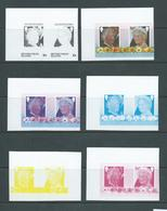 British Virgin Islands 1985 Queen Mother 10c Pair - 6 Imperforate Colour Trial Proofs MNH - British Virgin Islands