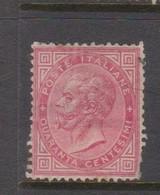 Italy S 20 1863 King Victor Emmanuel II,40c Carmine,mint Hinged,fault - 1861-78 Vittorio Emanuele II