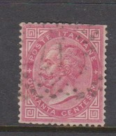 Italy S 20 1863 King Victor Emmanuel II,40c Carmine,used,short Perforation - 1861-78 Vittorio Emanuele II