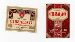 Erinnophilie Vignette Curaçao Maison Dutruc Bourg Ain Triple Sec (2 Vignettes) - Commemorative Labels